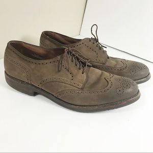 Allen Edmonds Oakwood suede oxfords dress shoes